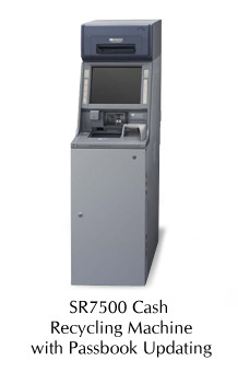 SR7500 Cash Recycling Machine with Optional Passbook Updating Module
